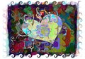 Colorful Heart Painting With Swirls Stock Photos - 35688483