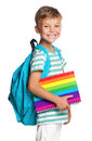 Little Boy With Exercise Books Stock Image - 35689901