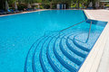 Entrance To The Pool In  Form Of Steps Stock Image - 35692831