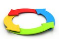 Colorful Arrows. Recycle Concept Royalty Free Stock Images - 35692899