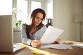 Businesswoman Reading A Document Royalty Free Stock Photography - 35693377