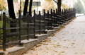 Forged Fence In Autumn Street Stock Images - 3578584