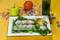 Chinese Food Spring Rolls Royalty Free Stock Photo - 3579485