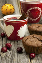 Cup Of Tea  With Sweet Muffin Stock Image - 35703631