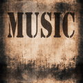 Music Word, Old Rusty Wall Royalty Free Stock Images - 35705599