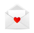 Valentine`s Day Card With Envelope And Heart Stock Image - 35709691