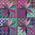 Patchwork Background With Decor Elements Royalty Free Stock Images - 35710619
