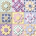 Patchwork Background With Decor Elements Stock Photo - 35710710