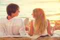 Honeymoon Concept, Man And Woman In Love Royalty Free Stock Photography - 35723577