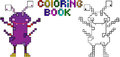 Coloring Book Pixel Monster Fourth Stock Images - 35731714