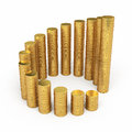 Gold Coins Circle Stacking Stock Photo - 35732360
