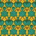 Vector Indian Floral Seamless Pattern Stock Image - 35733041