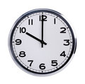 Round Office Clock Shows Ten O Clock Royalty Free Stock Image - 35734956