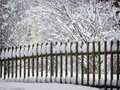 Fence And Snow Stock Image - 35736431