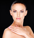 Beautiful   Face Of The Adult Woman With Fresh Skin Royalty Free Stock Photography - 35738007