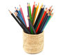 Colour Pencils Isolated And White Background Royalty Free Stock Photography - 35743177
