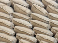 Pile Sacks In Warehouse Stock Images - 35745964