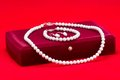 Pearls And Gift Box Royalty Free Stock Photo - 35747965