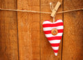 Red And White Striped Heart Royalty Free Stock Image - 35750096