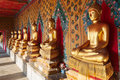 Buddhas In Wat Pho. Bangkok, Thailand. Royalty Free Stock Photo - 35750865