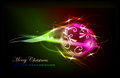 Christmas Background With Neon Effecr Ball Royalty Free Stock Photography - 35759527