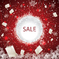 Big Holiday Sale With Fireworks Stock Image - 35761381