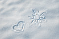 Snow Heart Shape Royalty Free Stock Images - 35762139