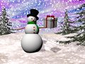 Gift From Snowman - 3D Render Royalty Free Stock Image - 35764096