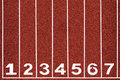 Running Track With Number 1-7, Abstract, Texture, Background. Royalty Free Stock Images - 35767019