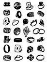 Set Of Silhouettes Of Rings Royalty Free Stock Photo - 35775725