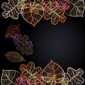 Ornamental Background With Art Autumn Leaves Royalty Free Stock Image - 35777886