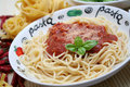 Pasta With Tomato Sauce Royalty Free Stock Photography - 35781527