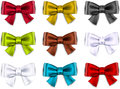 Satin Color Ribbons. Gift Bows. Royalty Free Stock Photography - 35782377