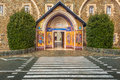 Entrance To Holy Monastery Of The Virgin Of Kykkos, Cyprus. Royalty Free Stock Image - 35784066