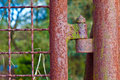 Rusty Hinge At A Gate Stock Image - 35796831
