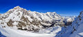Panorama Of Mont Blanc De Courmayeur, Val Veny, And Youla Slope Royalty Free Stock Image - 35806086