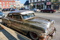 Antique Car On The Side Of A Street Stock Photo - 35817780