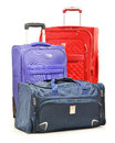 Luggage Consisting Of Large Suitcases And Travel Bag On White Royalty Free Stock Photography - 35823117