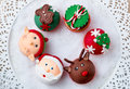 Festive Christmas Cupcakes Royalty Free Stock Images - 35842079