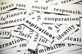 Aspirations. Concept Of Cutout Words Related With Business. Stock Photo - 35844250