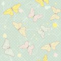 Delicate Seamless Pattern With Butterflies Royalty Free Stock Image - 35844966