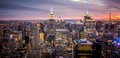 Empire State Building, New York City Manhattan During Sunset Stock Image - 35852131