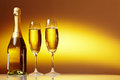 Champagne Glasses Ready To  New Year Royalty Free Stock Images - 35876169