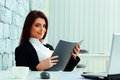 Young Beautiful Happy Businesswoman Holding The Notebook Stock Images - 35887054