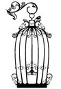 Antique Bird Cage Vector Stock Photography - 35896462