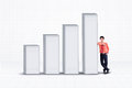 Businessman And Increasing Bar Chart - Isolated Stock Image - 35901851