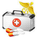 Caduceus And Medical Case Royalty Free Stock Images - 35904999
