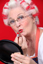 Grandmother With Hair In Rollers Royalty Free Stock Images - 35910799
