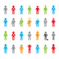 Colored Icon Set Royalty Free Stock Photo - 35915605