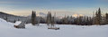 Panorama Of Winter Mountain Valley Royalty Free Stock Images - 35921739